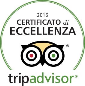 Certificato di Eccellenza TripAdvisor® 2016